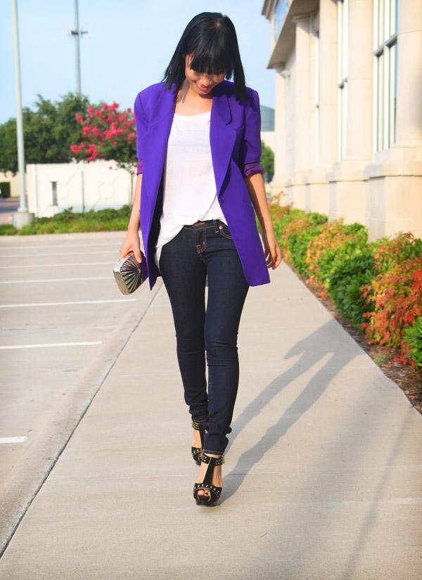 how to wear boyfriend blazer with jeans